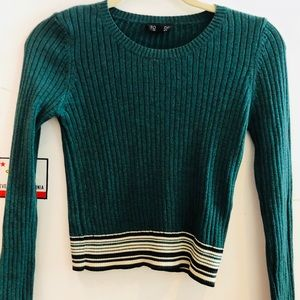 Sweaters - Top shop hunter green cropped sweater